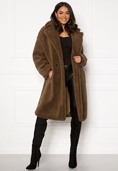 Blue Vanilla Oversized Teddy Coat Tan Bubbleroom.eu