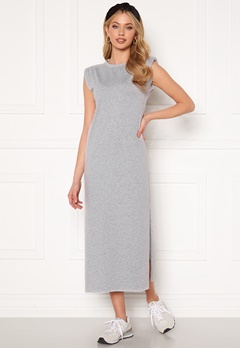 Bohemian Lounge Shoulder Pad Midaxi Dress Grey Bubbleroom.eu