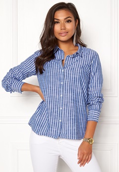 Boomerang Lill Striped Shirt Deep Sea Bubbleroom.eu