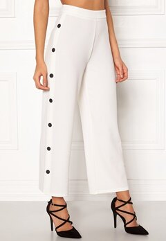 BUBBLEROOM Alexa button trousers White / Black Bubbleroom.eu
