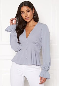 BUBBLEROOM Aliya blouse Dusty blue Bubbleroom.eu