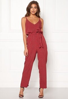 BUBBLEROOM Amal jumpsuit Red / White / Dotted Bubbleroom.eu