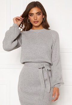 BUBBLEROOM Amira knitted dress Grey melange Bubbleroom.eu