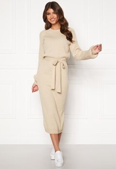 BUBBLEROOM Amira knitted dress Beige melange Bubbleroom.eu