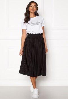 BUBBLEROOM Anna midi pleated skirt Black Bubbleroom.eu