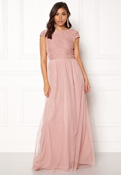BUBBLEROOM Ariella prom dress Dusty pink Bubbleroom.eu