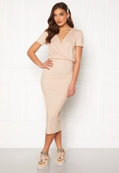 BUBBLEROOM Besa wrap dress Beige Bubbleroom.eu