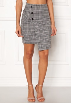 c89bdcb4 BUBBLEROOM Brienne skirt Grey / Pink / Checked Bubbleroom.eu