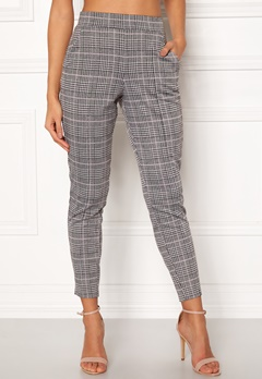 BUBBLEROOM Brienne trousers Grey / Pink / Checked Bubbleroom.eu