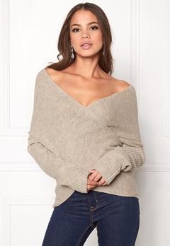 BUBBLEROOM Brixia knitted sweater Beige melange Bubbleroom.eu