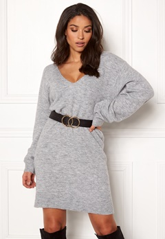 BUBBLEROOM Brooke knitted dress Grey melange Bubbleroom.eu
