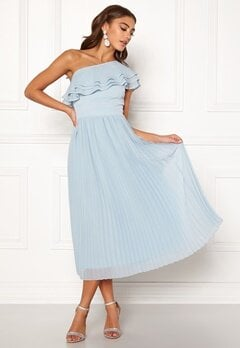 BUBBLEROOM Carolina Gynning Frill one shoulder dress Light blue Bubbleroom.eu