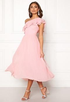 BUBBLEROOM Carolina Gynning Frill one shoulder dress Light pink Bubbleroom.eu