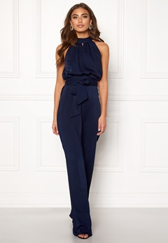 BUBBLEROOM Carolina Gynning High neck jumpsuit Dark blue Bubbleroom.eu