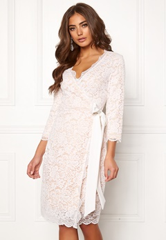 BUBBLEROOM  Carolina Gynning lace wrap dress White Bubbleroom.eu