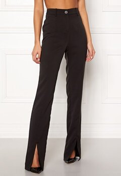 BUBBLEROOM Carolina Gynning Slitted trouser Black Bubbleroom.eu
