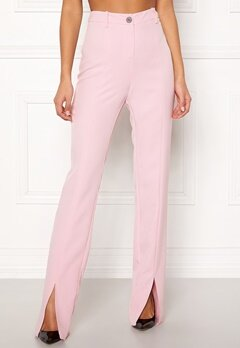 BUBBLEROOM Carolina Gynning Slitted trouser Light pink Bubbleroom.eu
