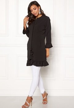 BUBBLEROOM Cicely frill coat Black Bubbleroom.eu