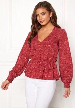 BUBBLEROOM Denice blouse Red / White / Dotted Bubbleroom.eu