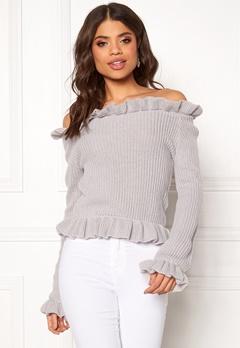 BUBBLEROOM Eliana knitted sweater Light grey Bubbleroom.eu