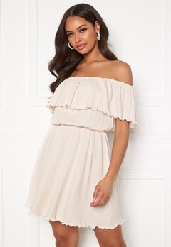 BUBBLEROOM Eliza offshoulder dress Cream Bubbleroom.eu