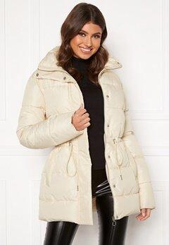 BUBBLEROOM Ellinora tie waist puffer jacket Beige Bubbleroom.eu