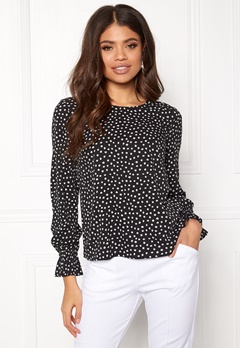 BUBBLEROOM Elma blouse Black / White / Dotted Bubbleroom.eu