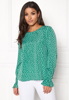 BUBBLEROOM Elma blouse Green / White / Dotted Bubbleroom.eu