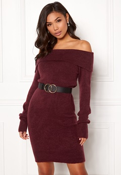 BUBBLEROOM Ember knitted dress Wine-red Bubbleroom.eu