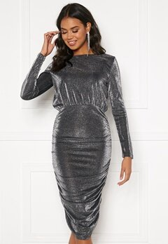 BUBBLEROOM Ezra sparkling drapy dress Black / Silver Bubbleroom.eu