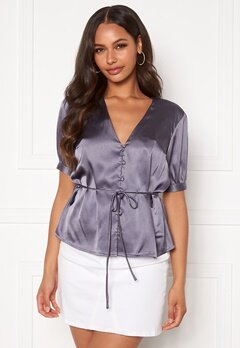 BUBBLEROOM Farida blouse Dusty blue Bubbleroom.eu