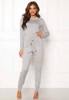 BUBBLEROOM Filippa fine knitted set Grey melange Bubbleroom.eu