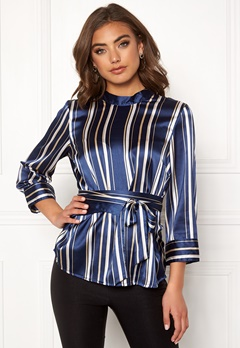 BUBBLEROOM Gabbie top Dark blue / Striped Bubbleroom.eu