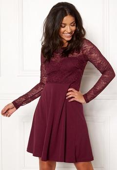 BUBBLEROOM Grace lace dress Wine-red Bubbleroom.eu