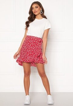 BUBBLEROOM Ida skirt Red / White / Floral Bubbleroom.eu