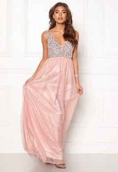 BUBBLEROOM Ivory embellished prom dress Light pink Bubbleroom.eu