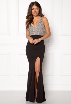 BUBBLEROOM Ivy embellished prom dress Black Bubbleroom.eu