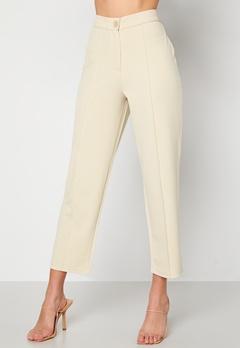 BUBBLEROOM Joanna soft suit pants Light beige Bubbleroom.eu