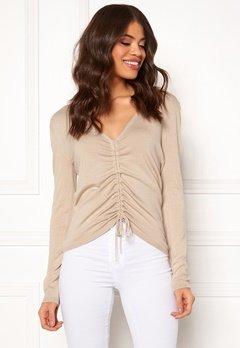 BUBBLEROOM Josie knitted sweater Beige melange Bubbleroom.eu