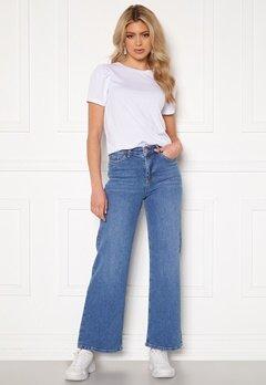 BUBBLEROOM June wide leg stretch jeans Medium blue Bubbleroom.eu