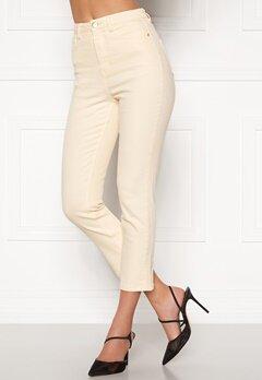 BUBBLEROOM Katy high waist semi stretch jeans Cream Bubbleroom.eu
