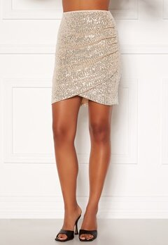 BUBBLEROOM Kira sparkling skirt Champagne / Silver Bubbleroom.eu