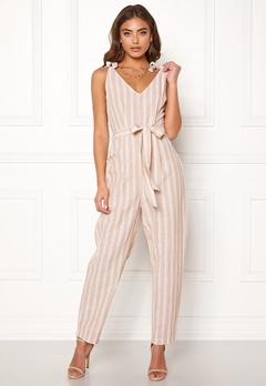 BUBBLEROOM Krissy jumpsuit Beige / White / Striped Bubbleroom.eu