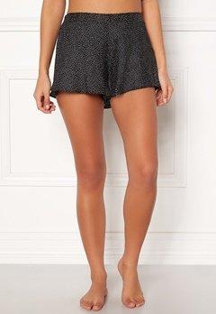 BUBBLEROOM Laila satin shorts Black / White / Dotted Bubbleroom.eu