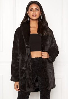 BUBBLEROOM Lene faux fur coat Black Bubbleroom.eu