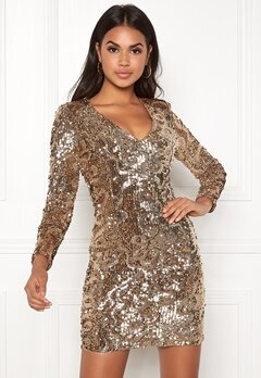 BUBBLEROOM Lene sequin dress Gold Bubbleroom.eu