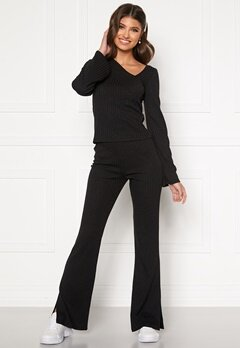 BUBBLEROOM Lesley rib trousers Black Bubbleroom.eu