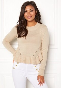 BUBBLEROOM Livia knitted sweater Beige Bubbleroom.eu