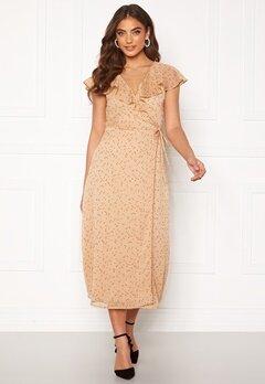 BUBBLEROOM Liw wrap dress Beige / Brown / Dotted Bubbleroom.eu