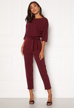 BUBBLEROOM Lorna jumpsuit Wine-red Bubbleroom.eu
